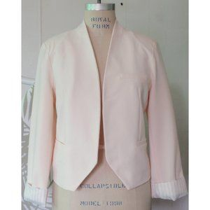 FOREVER 21 PASTEL PEACH OPEN CROPPED BLAZER L